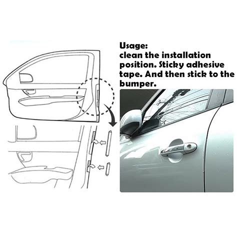 Pelindung Pintu Mobil Silicone Car Door Bumper Guard Diskon bumper pelindung pintu mobil 8pcs black