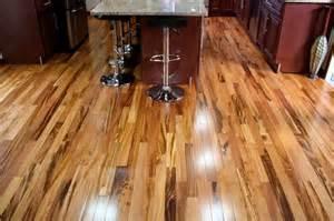 exotic brazilian tigerwood koa prefinished modern kitchen minneapolis by unique wood floors
