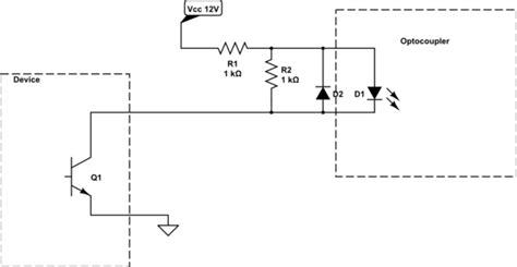 led bleed resistor opto isolator common anode optocouplers protection electrical engineering stack exchange
