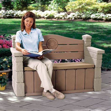 step 2 bench step2 outdoor storage bench best storage design 2017