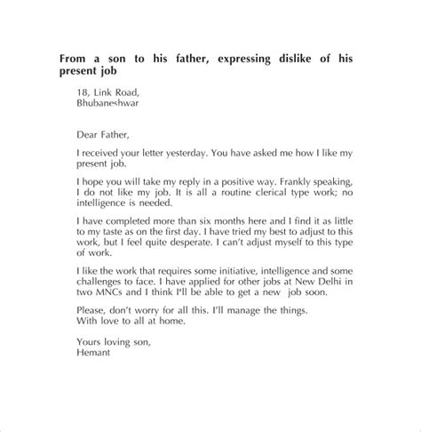 Exle Of A Personal Letter by Personal Letter Format 9 Sles Exles Format