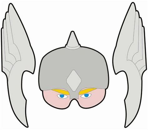 free thor helmet coloring pages