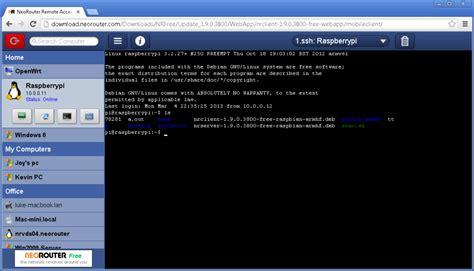 ssh console neorouter screenshots