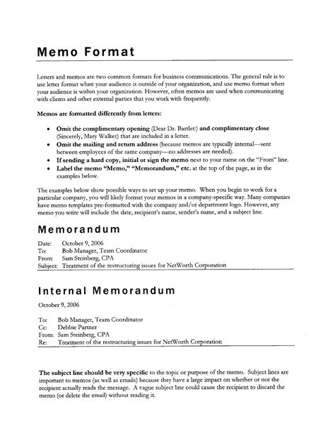 Memo Template In Pages memo format pages