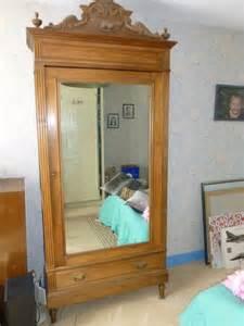 armoire ancienne avec 1 porte miroir 1 tiroir occasion
