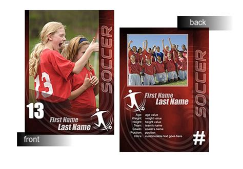 soccer trading card template free 15 psd football trading card images baseball trading