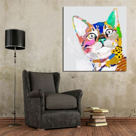 big paintings for living room nakicphotography big eyes cute silly cow wall picture canvas hand paint