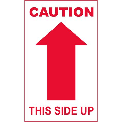 shipping label this side up one single arrow this side up caution handling label