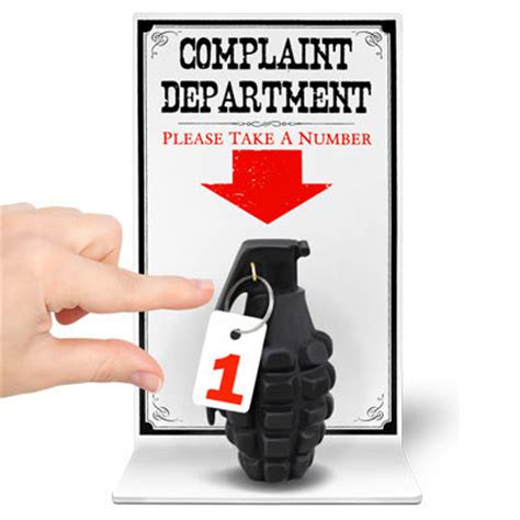 grenade complaint department sign patriotdepot