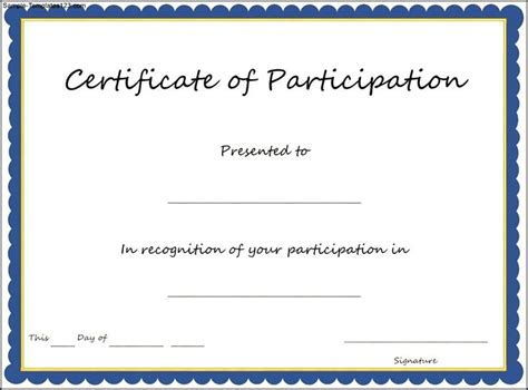 certification letter for participation certificate of participation template key components to