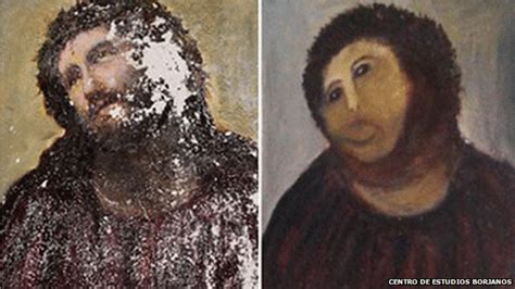 Jesus Painting Restoration Meme - that botched painting of jesus christ is art in its purest