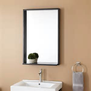 Black Bathroom Mirror by Bathroom Sleek Mirror Signaturehardware Com