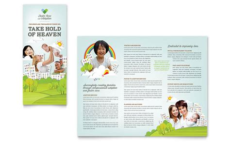 10 page brochures foster printing foster care adoption brochure template design