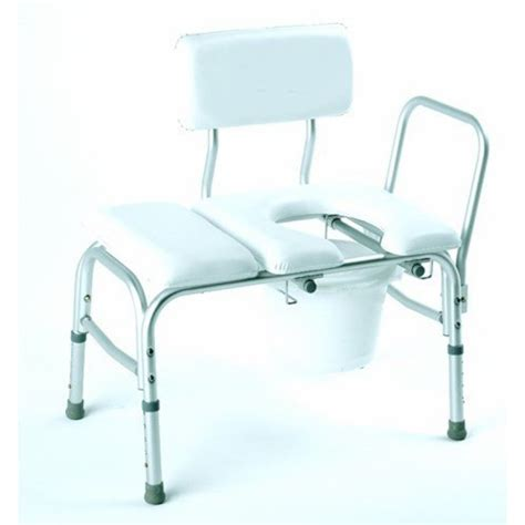 padded shower transfer bench bathtub transfer bench vinyl padded w cut out pail