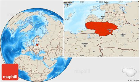 lithuania location on world map shaded relief location map of lithuania