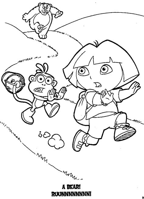 pudgy bunny coloring pages pudgy bunny s dora the explorer coloring pages