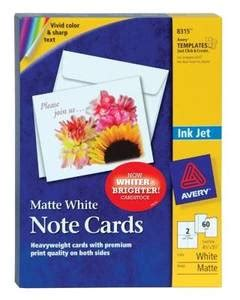avery 8317 note cards template avery inkjet note cards 4 14 x 5 12 embossed ivory box of