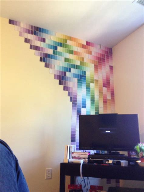 cool things to add to your bedroom best 20 paint chip wall ideas on pinterest paint sle