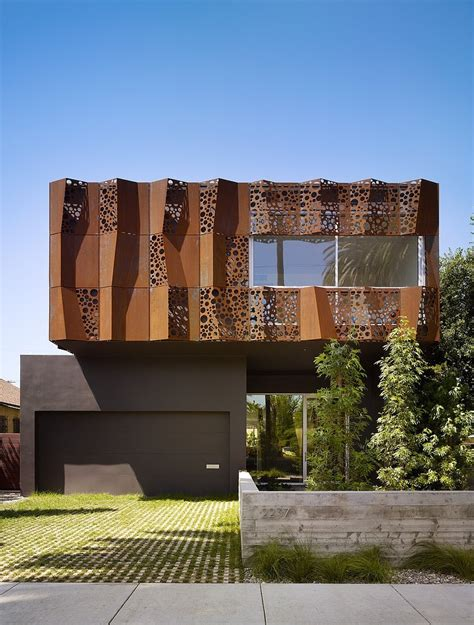 residence curtains inspiring walnut residence embodying unique perforations