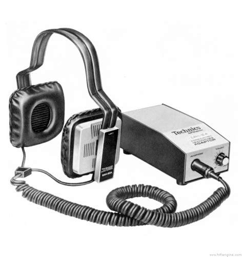 Headphone Technic technics eah 80a manual stereo electret headphones hifi engine