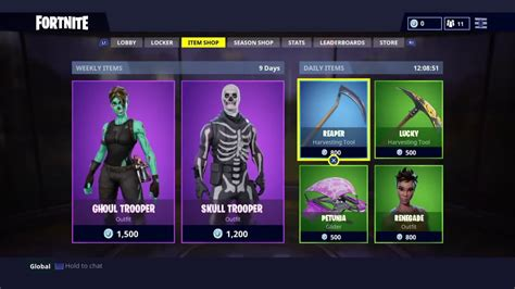 fortnite item shop today new menu fortnite update 1 24 item shop v bucks