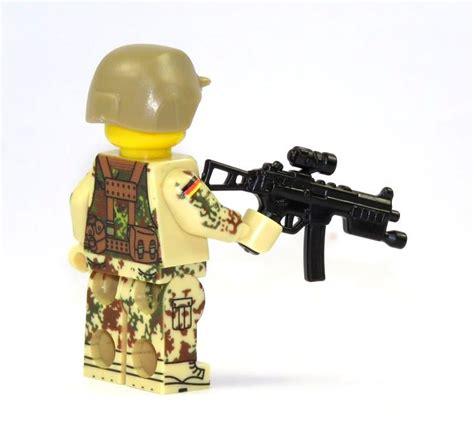 Lego Aufkleber Selbst Drucken by Custom Figur Bundeswehr Soldat Mit Custom Waffe Tan Aus