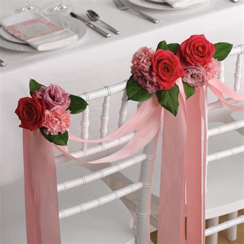 stuhldekoration hochzeit pink chair decoration grande flowers