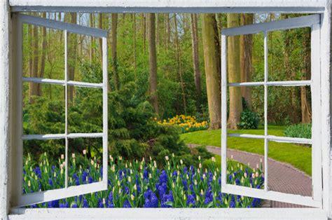 wall mural window  adhesive holland open window view
