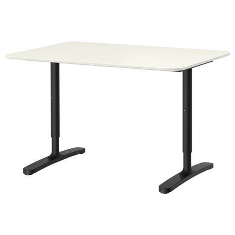 Bekant Desk White Black 120x80 Cm Ikea Black White Desk