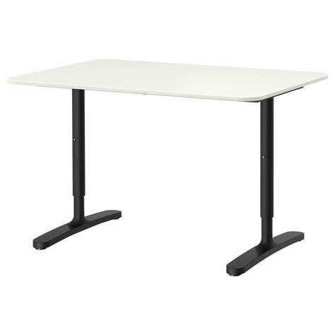 Bekant Desk White Black 120x80 Cm Ikea Ikea Black And White Desk