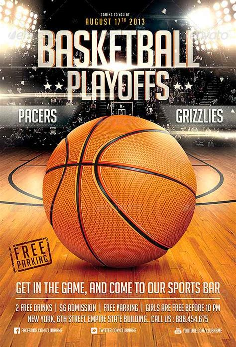 Download Basketball Game Flyer Template Sports Event Flyer Template Free