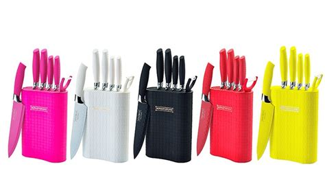 Pisau Set Royalty Line six knife set with stand groupon goods
