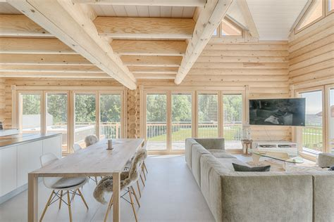 Scandinavian style log cabins and holiday lodges for
