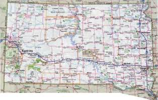 map of with all cities and towns large detailed roads and highways map of south dakota