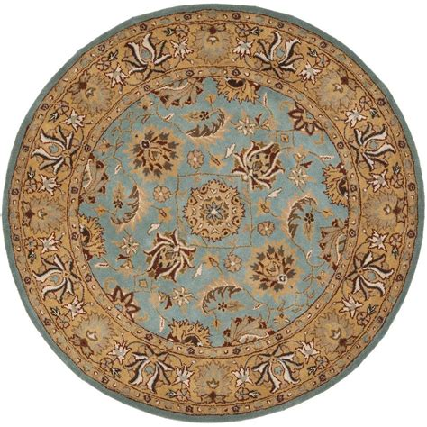 Safavieh Heritage Rug by Safavieh Heritage Blue Gold 8 Ft X 8 Ft Area Rug