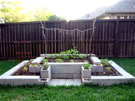 Anyone Here Use Cement Blocks For Raised Beds Four Cinder Block Vegetable Garden