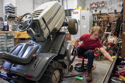 lawn mowers  snowplows small engine repair shops weather  seasons