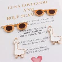 10pcs lot zinc alloy stud earrings black drop home llama gifts