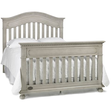 Dolce Babi Naples Convertible Crib In Grey Satin Gray Convertible Crib