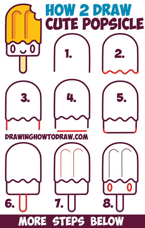 take me there draw and design your adventure books how to draw kawaii popsicle creamsicle with on