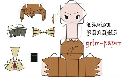 Note Papercraft - light yagami pattern by grim paper papercrafts