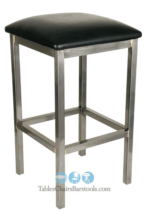 bar stools commercial grade gladiator commercial grade square backless bar stool