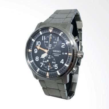 Harga Murah Seiko Jam Tangan Pria Silver Rantai Srp487 Original jual seiko chronograph jam tangan pria hitam silver 151112 harga kualitas terjamin