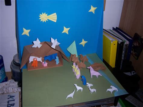 How To Make An Origami Nativity - nativity diagrams new calendar template site