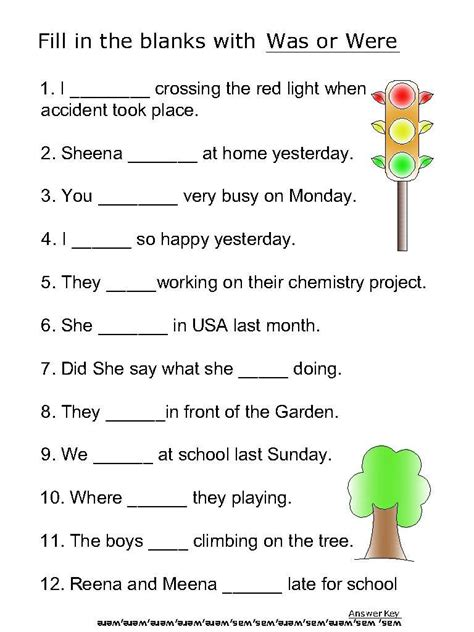 Helping Verb Worksheets by Helping Verb Worksheets For Was Were