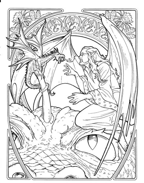 dragons an coloring book with beautiful and relaxing coloring pages gift for yli tuhat ideaa ausmalbilder einhorn pinterestiss 228
