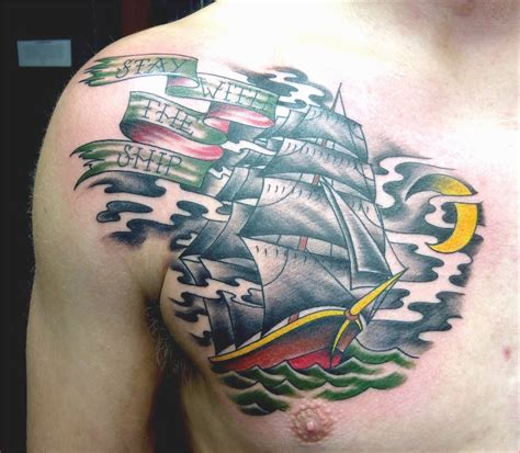 tattoo chest ship lovely pirate tattoo traditional with 15 exle photos
