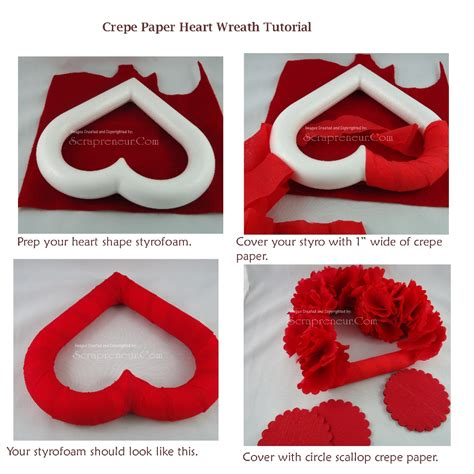 Paper Tutorial - crepe paper wreath tutorial jinkys crafts