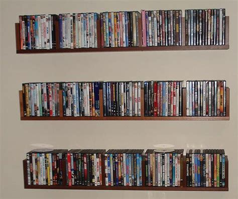 Wall Dvd Shelf | benno wooden dvd wall shelves wall shelf