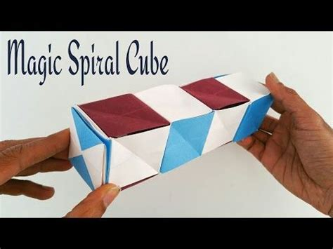 origami tutorial how to make dancing cubes how to make a paper quot magic spiral cube quot modular origami